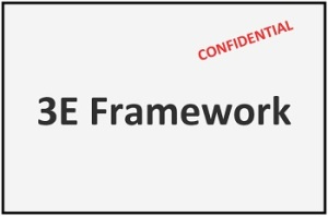 Image of 3E Framework labelled confidential